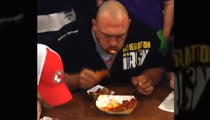 WWE Superstar Ryback -- DOMINATES Wing-Eating Competition