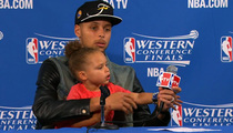Steph Curry's Daughter -- Hijacks Press Conference Again ... Sings Big Sean Song