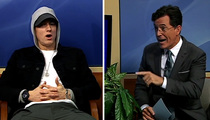 Stephen Colbert to Eminem -- I Ain't Afraid of You, Punk! (VIDEO)