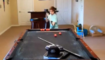 Billiards Trick Shots -- This Kid is KILLING IT On the Pool Table (VIDEO)
