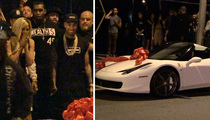 Kylie Jenner -- Forget the Used Mercedes ... Gets a Sick Birthday Ferrari From Tyga (VIDEO)