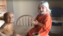 Toddlers Get into a Sticky Situation with Peanut Butter