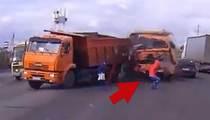 Luckiest Pedestrians In The World!!