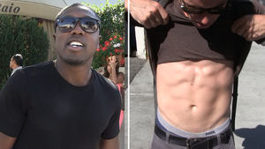 Andre Berto -- Convinces Jacked Photog ... You're a Fightin' Man!!!
