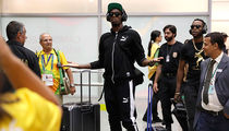 Usain Bolt -- I HAVE ARRIVED ... Touches Down In Rio