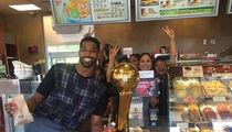 Tristan Thompson -- Canadian Trophy-Off ... At Famous Donut Shop (Photos)