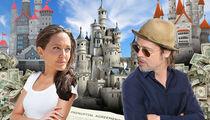 Brad Pitt & Angelina Jolie -- The Prenup is Clear ... Splitting Properties Is No Biggie ... But Kids Will Be