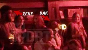 Ezekiel Elliott & Dak Prescott -- Monday Night Clubbin' ... Poppin' Bubbly, Throwin' Cash