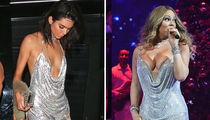 Kendall vs. Mariah -- Who'd You Rather (Different Diva, Same Dress Edition)
