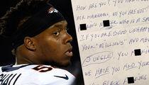 NFL's Brandon Marshall -- Reveals Racist Hate Mail ... Slurs & Violent Threats