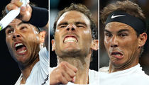 16 Pics Of Rafael Nadal Serving Up A Funny Game Face At The Australian Open