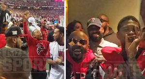 ATL Falcons Sidelines Packed With Huge Stars ...…