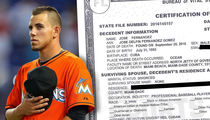 Jose Fernandez's Death Certificate Reveals He was Divorced (DOCUMENT)