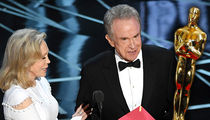 Oscars -- Warren and Faye Fought ... Over Who Announces Best Picture