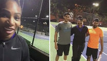Serena Williams Crashes Random Tennis Match ... Mind If I Play?? (Video)