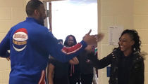 Globetrotters Star Meets FAMOUS HANDSHAKE STUDENTS ... Let's Do This!!!