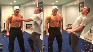 Rob Gronkowski Gives Insane Pep Talk to Mojo Rawley to Gear Up for WrestleMania