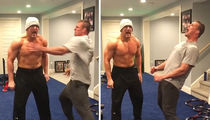 Rob Gronkowski Gives Insane Pep Talk to Mojo Rawley to Gear Up for WrestleMania (VIDEO)