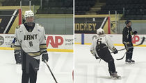 Justin Bieber Plays Hockey at West Point