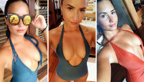 Demi Lovato's Skin-Filled Vacay ... See The Hot Singer's Swimsuit Selfies