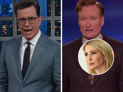 Stephen Colbert, Conan O'Brien Pile on Ivanka Trump for Getting BOOED in Germany (Video)
