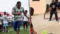 Marshawn Lynch Looks NFL Ready During Haiti Charity Trip (Photo Gallery)