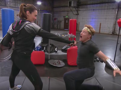 Watch 'Wonder Woman' Gal Gadot BEAT UP Conan O'Brien With Ease